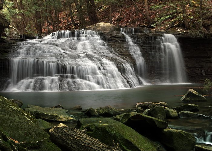 Water Greeting Card featuring the photograph Freedom Falls by Kevin E McCaslin