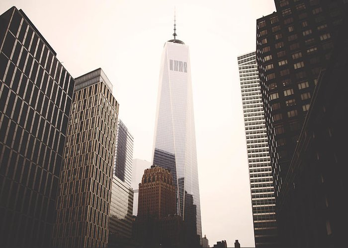Freedom Towers Greeting Cards
