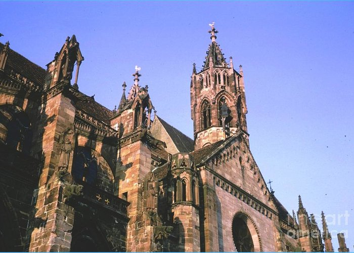 Germany Greeting Card featuring the photograph Freiburg Gothic by Ted Pollard