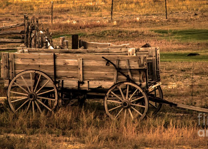 Freight Wagon Greeting Card featuring the photograph Freight Wagon by Robert Bales