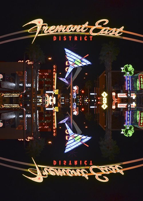 Fremont Greeting Card featuring the photograph Fremont East 1 by Michael Anthony