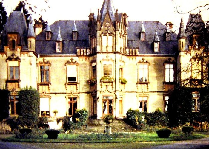 French Chateau 1955 Greeting Card featuring the photograph French Chateau 1955 by Will Borden