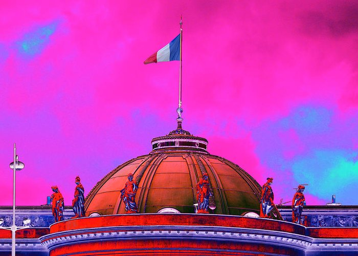 Dome Greeting Card featuring the photograph French Dome Art by Richard Henne