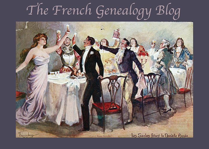 France Greeting Card featuring the photograph French New Year With Fgb Border by A Morddel
