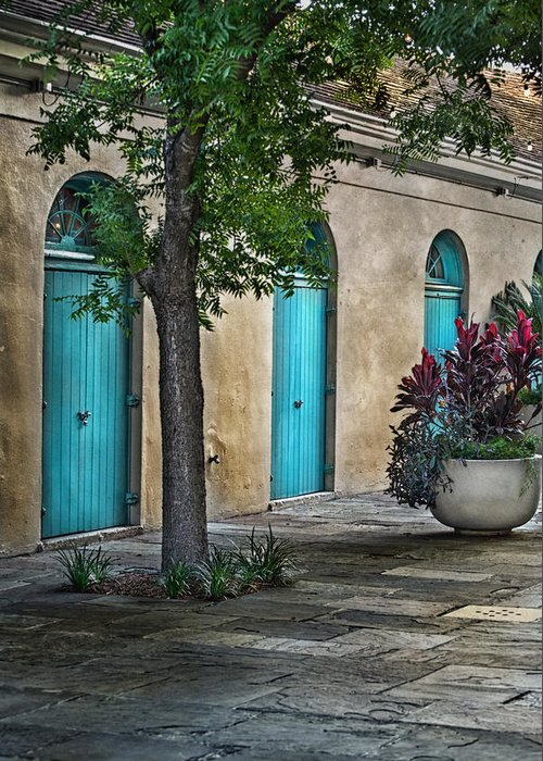 French Quarter Greeting Card featuring the photograph French Quarter Alley by Brenda Bryant