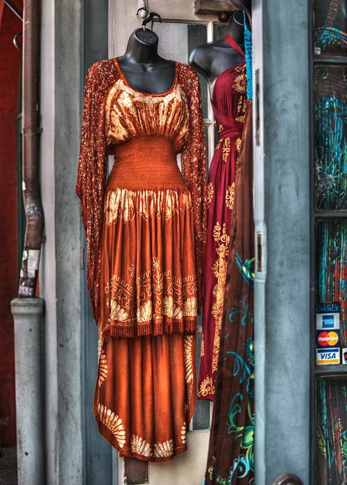 French Quarter Greeting Card featuring the photograph French Quarter Clothing by Brenda Bryant
