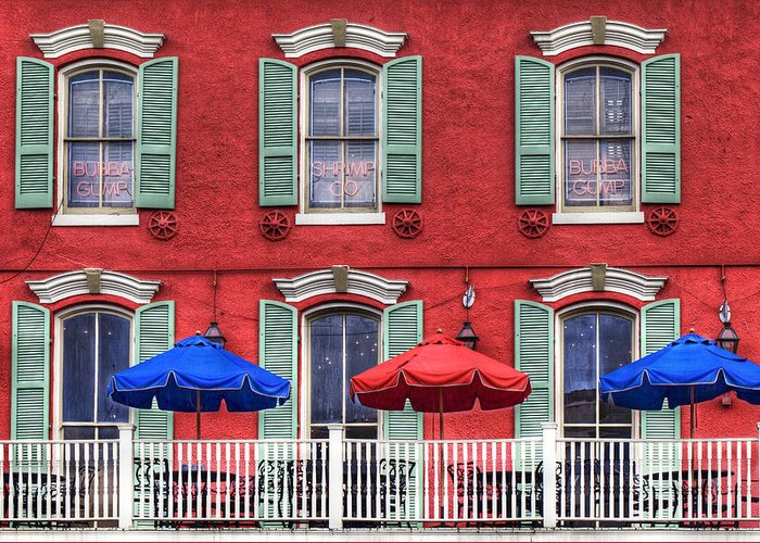 Landscape Greeting Card featuring the photograph French Quarter by Lijie Zhou
