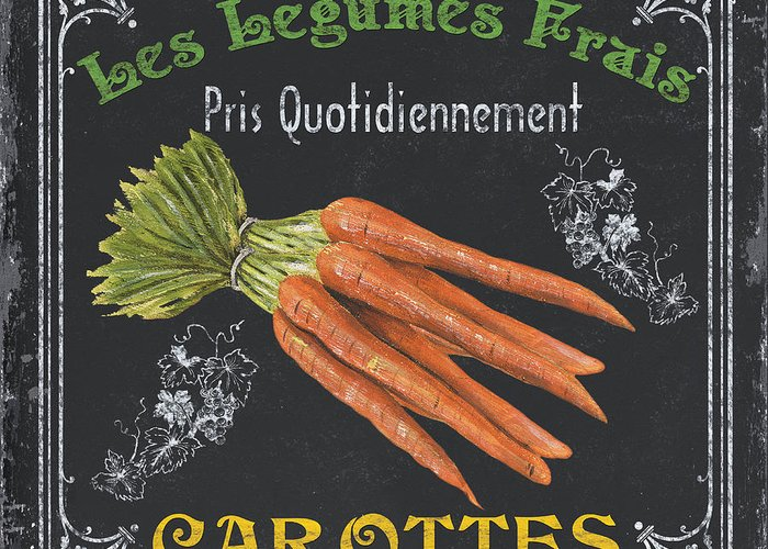 Produce Greeting Card featuring the painting French Vegetables 4 by Debbie DeWitt