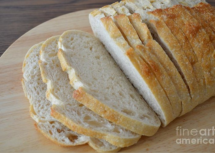Bread Greeting Card featuring the photograph Fresh Baked Sourdough by Mary Deal