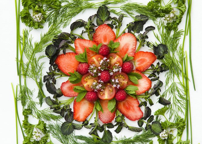 Arranged Greeting Card featuring the photograph Fresh Fruit Salad by Anne Gilbert