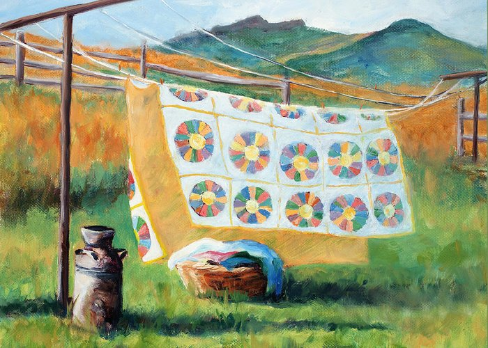 Clotheslines Greeting Cards
