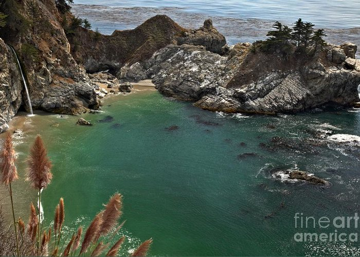 Mcway Falls Greeting Card featuring the photograph Fresh Water Into The Bay by Adam Jewell