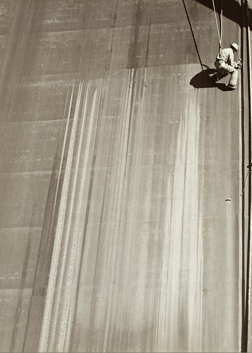 1930 Greeting Card featuring the photograph Friant Dam, C1940 by Granger