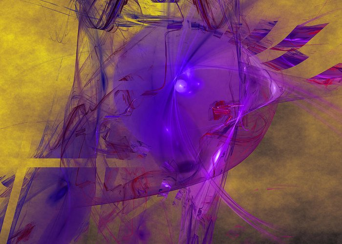 Abstract Greeting Card featuring the digital art Friday Frustration by Jeff Iverson