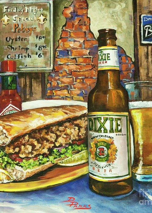 Dixie Greeting Card featuring the painting Friday Night Special by Dianne Parks