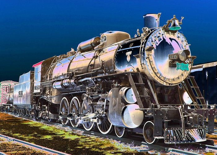 Train Greeting Card featuring the photograph Frisco 1519 - Photopower 1464 by Pamela Critchlow
