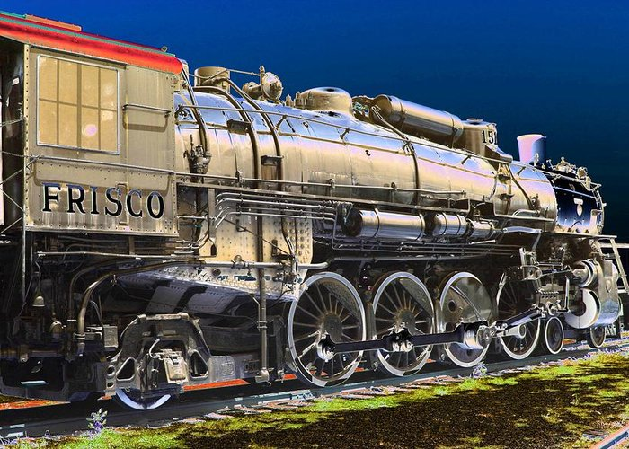 Train Greeting Card featuring the photograph Frisco 1519 - Photopower 1465 by Pamela Critchlow