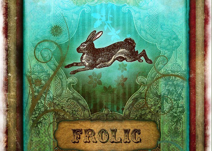 Andrew Farley Greeting Card featuring the digital art Frolic by Aimee Stewart