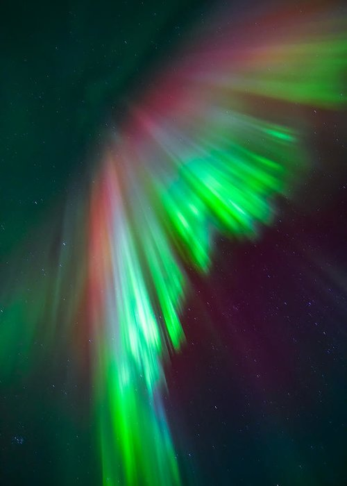 Aurora Greeting Card featuring the photograph From Above by Anders Hanssen