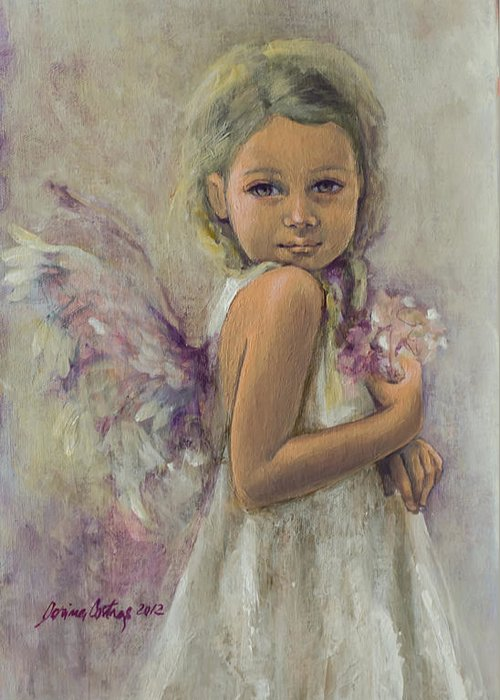 Art Greeting Card featuring the painting From Heaven... by Dorina Costras