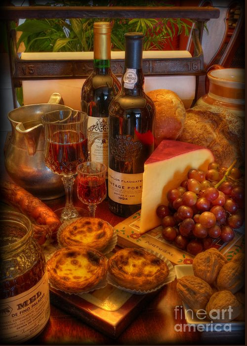 Cabernet Sauvignon Greeting Card featuring the photograph From Lisbon With Love by Lee Dos Santos