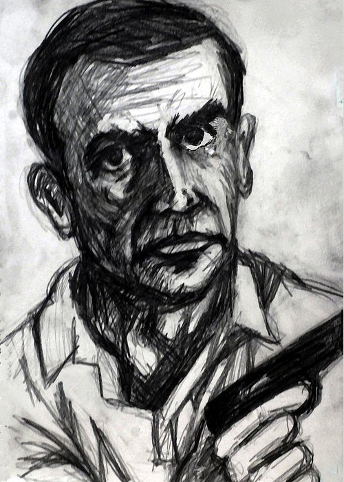 James Greeting Card featuring the drawing From Russia With Love by Paul Sutcliffe