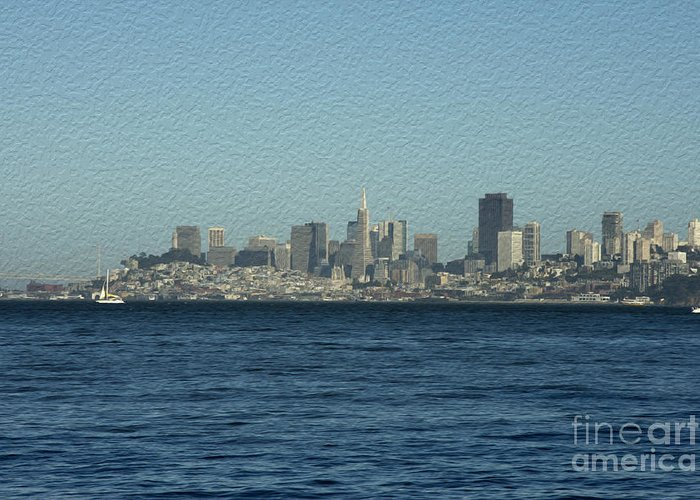 Sausalito Greeting Card featuring the photograph From Sausalito by David Bearden