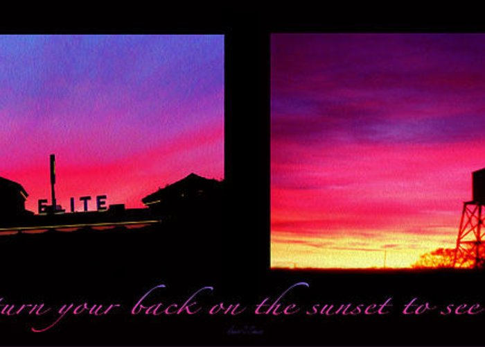 Sunset Greeting Card featuring the photograph From Sunset To Sunrise by Robert J Sadler