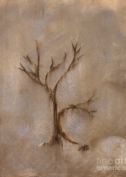 Trees Greeting Card featuring the mixed media From The Ashes by Lelan Gimnick