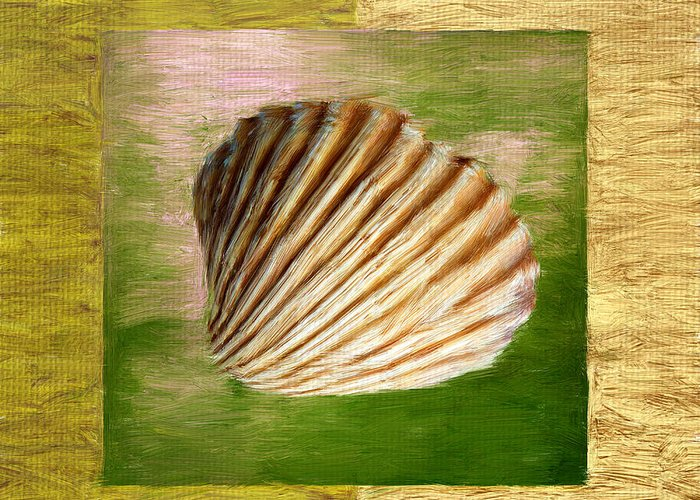 Green Greeting Card featuring the digital art From The Sea by Lourry Legarde