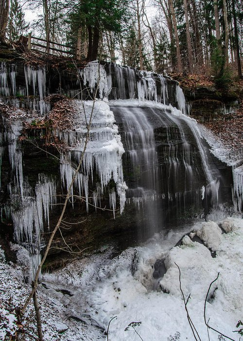Falls Greeting Card featuring the photograph Frozen Buttermilk Falls by Anthony Thomas