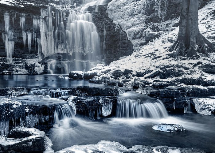 Settle Greeting Card featuring the photograph Frozen Scaleber Force Falls by Chris Frost