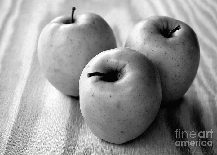 Black And White Greeting Card featuring the photograph Fruit And Grain by Dan Holm