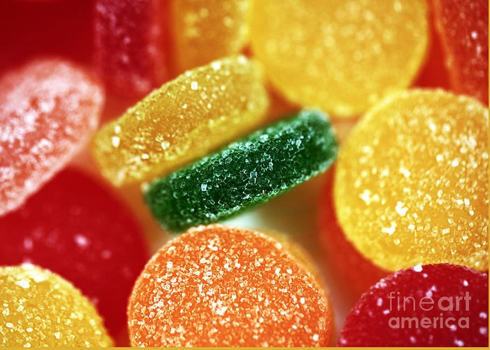 Fruit Candy Greeting Card featuring the photograph Fruit Candy by John Rizzuto