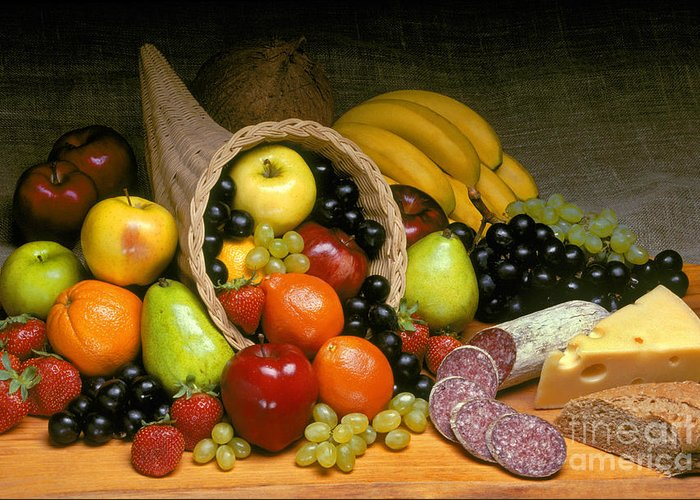 Fruit Greeting Card featuring the photograph Fruit Cornucopia by Craig Lovell