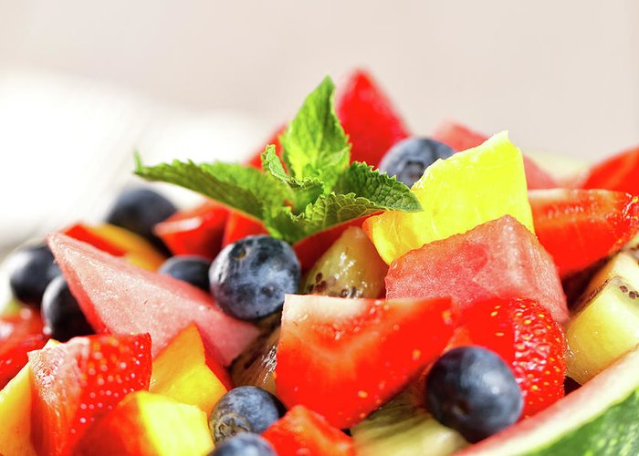 Breakfast Greeting Card featuring the photograph Fruit Salad by Svariophoto
