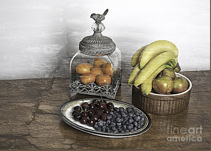 Fruit Greeting Card featuring the photograph Fruit Still Life by Lesley Rigg
