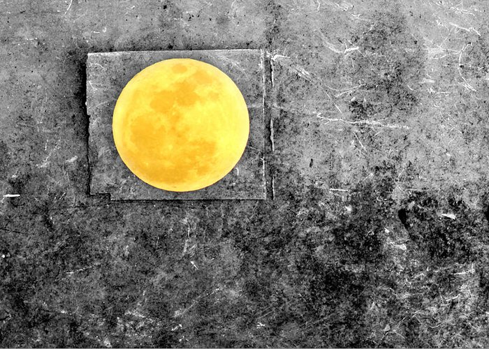 Full Moon Greeting Card featuring the photograph Full Moon by Rebecca Sherman