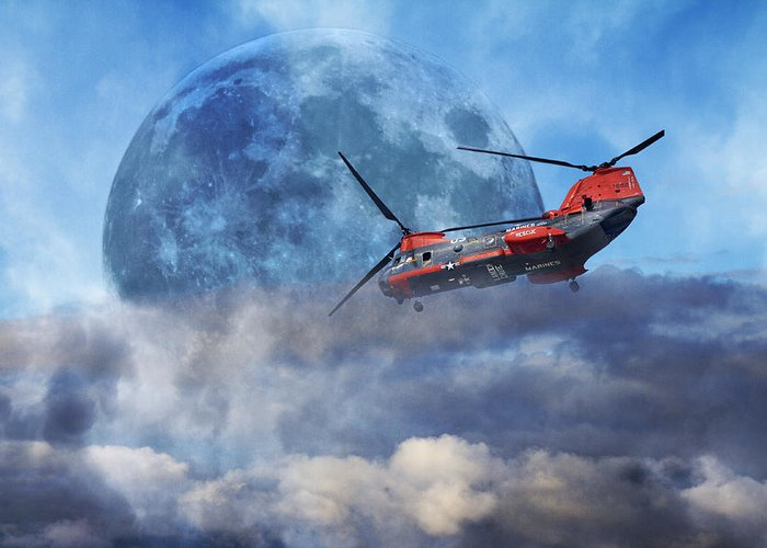 Full Greeting Card featuring the photograph Full Moon Rescue by Betsy Knapp