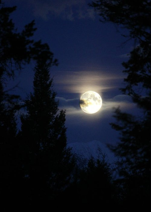 Full Moon Greeting Card featuring the photograph Full Moon Rising by Connie Zarn