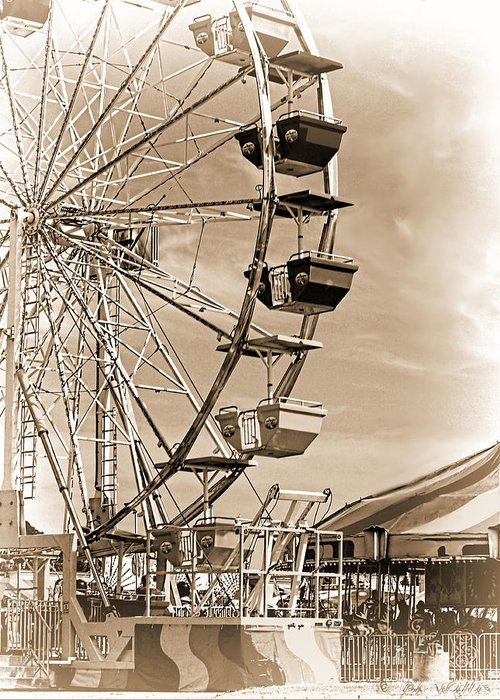 Ferris Wheel Greeting Card featuring the photograph Fun Ferris Wheel by Bonnie Willis