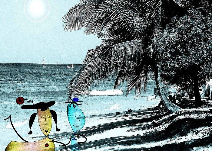 Beach Greeting Card featuring the photograph Fun Time by Iris Gelbart