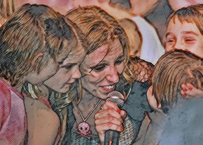 Debbie Gibson Greeting Card featuring the photograph Fun With The Kids by Brian Graybill