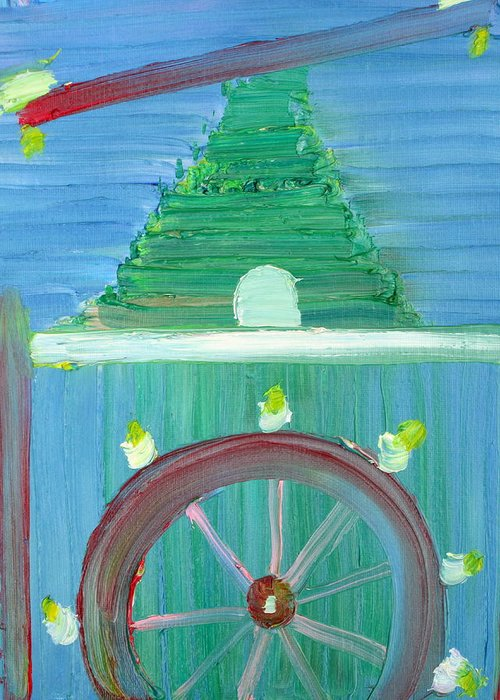Funfair Greeting Card featuring the painting Funfair by Fabrizio Cassetta