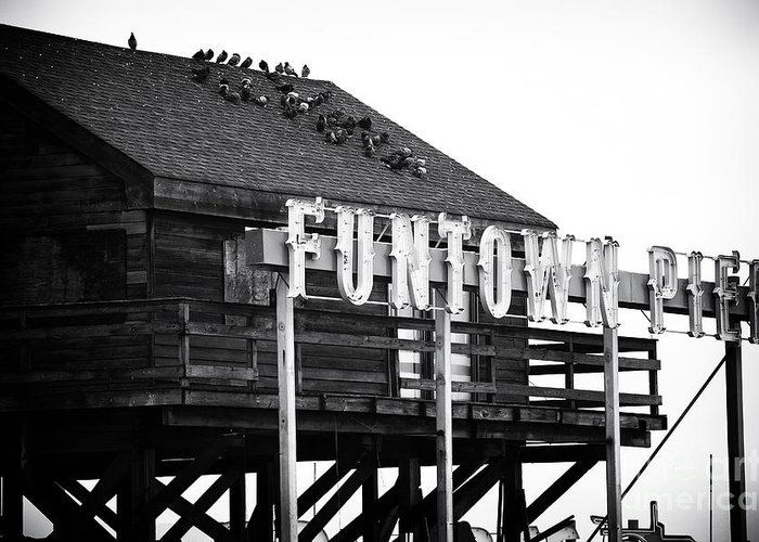 Funtown Pier Greeting Card featuring the photograph Funtown Pier by John Rizzuto