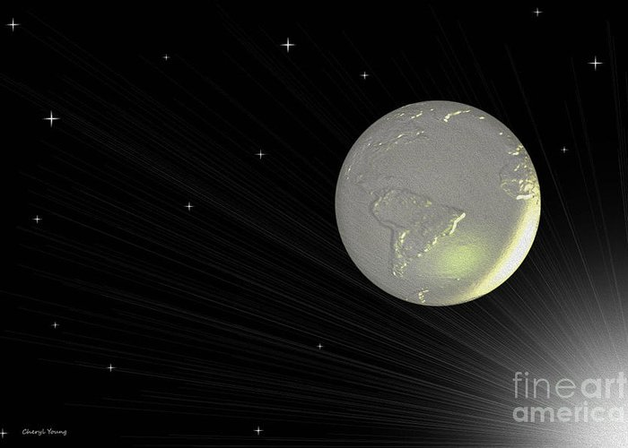 Abstract Greeting Card featuring the photograph Future Earth 2 by Cheryl Young