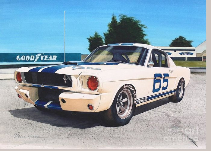 Watercolor Greeting Card featuring the painting G T 350 by Robert Hooper