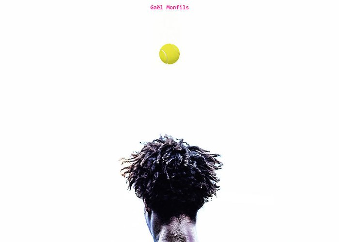 Gael Monfils Greeting Card featuring the Gael Monfils by Nishanth Gopinathan