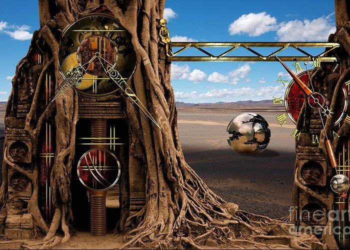 Gagilus Greeting Card featuring the digital art Gagilus Time Dream by Franziskus Pfleghart
