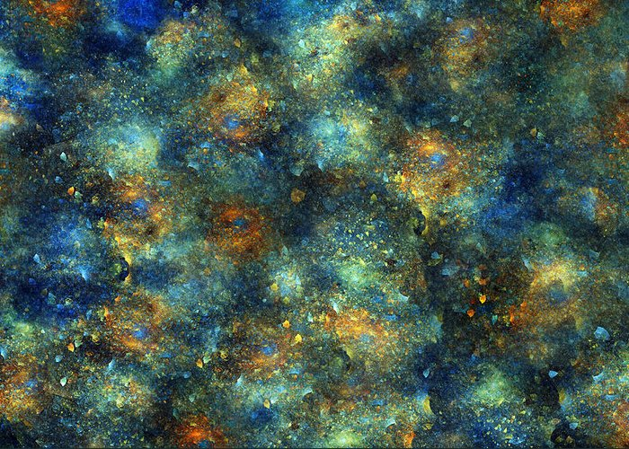 Star Greeting Card featuring the digital art Galaxies by Betsy Knapp